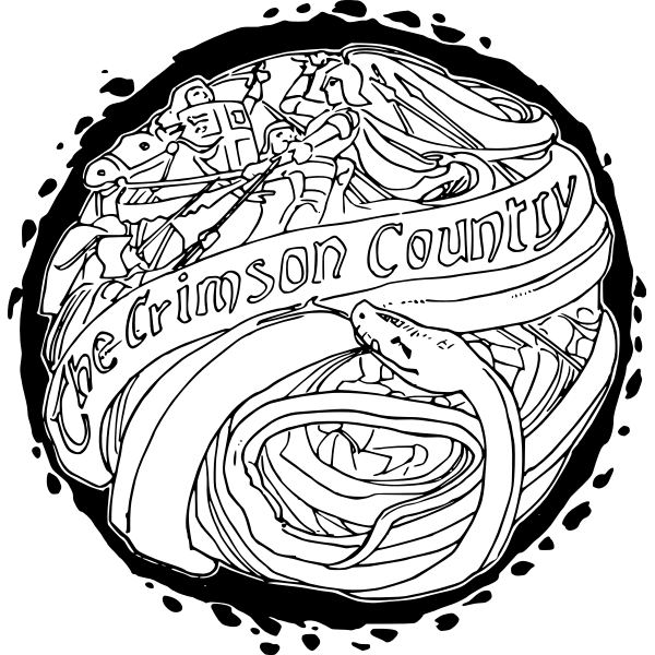 The Crimson Country logo vector image