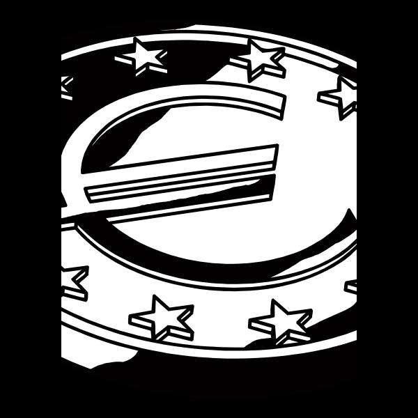 Euro coin vector graphics