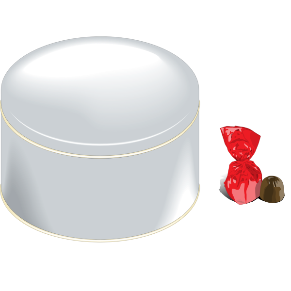 Sweets can vector illustration