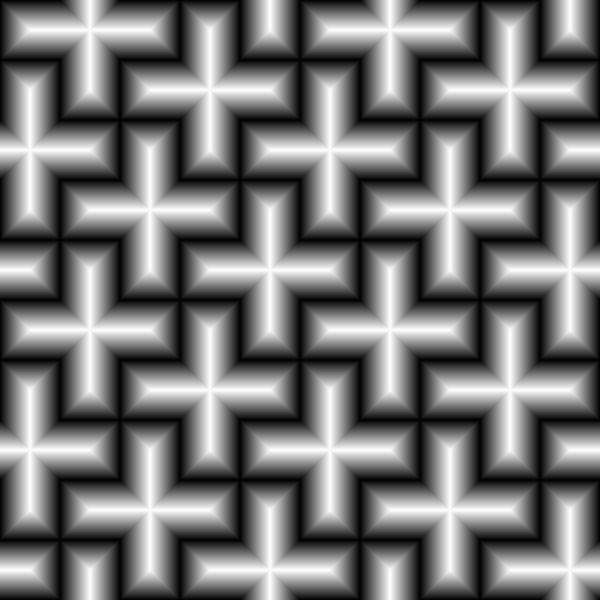 Shiny cross pattern