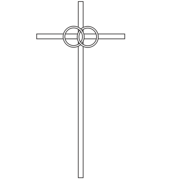 Drawing of religious sign drawn with lines