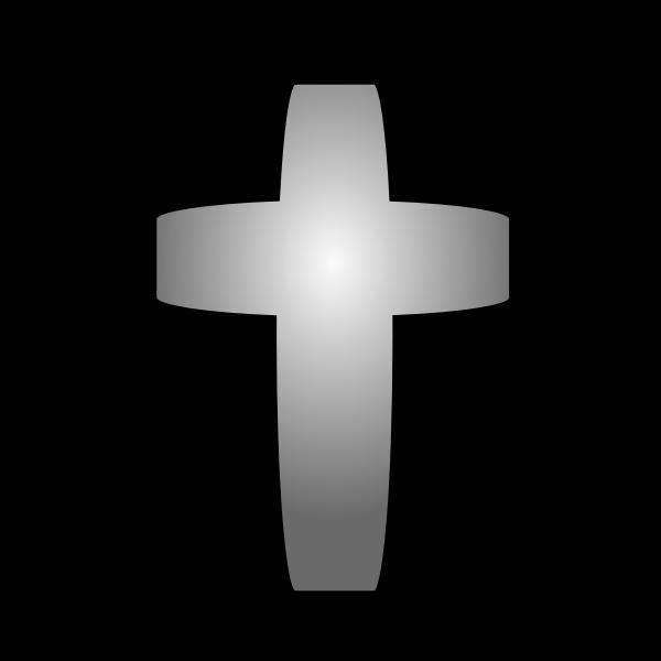 Vector drawing of cross