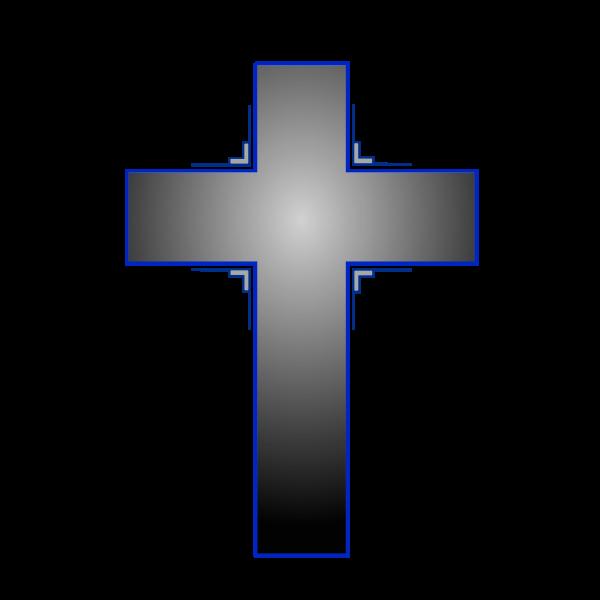 Vector image of cross