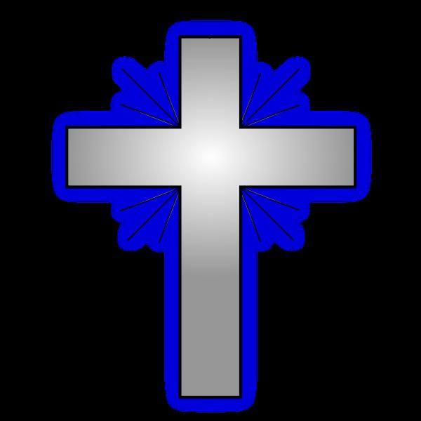 Vector illustration of a Christian cross