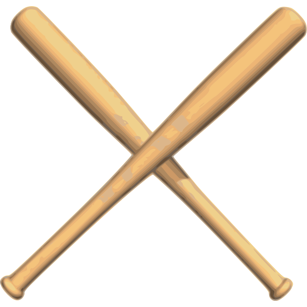Crossed bats baseball