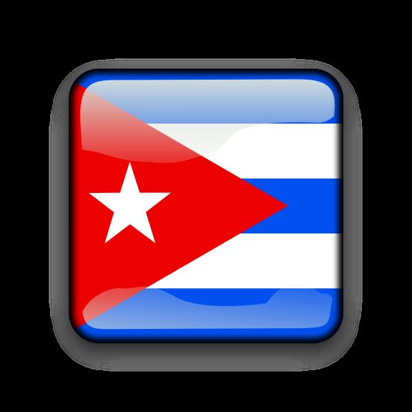 Cuba vector button