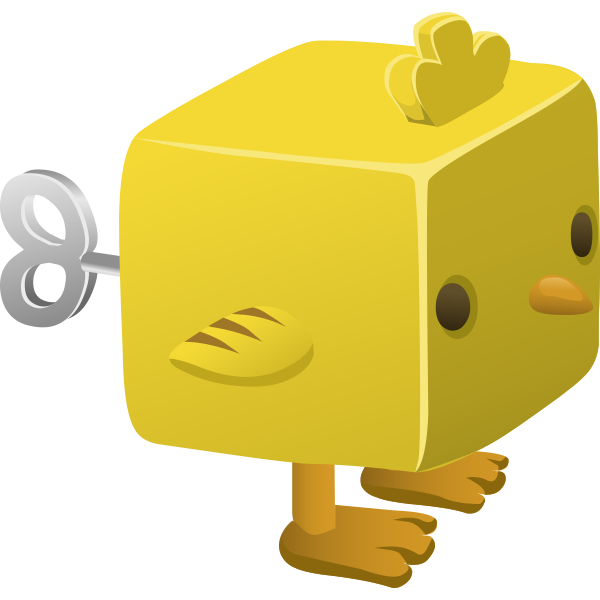 Yellow chick toy