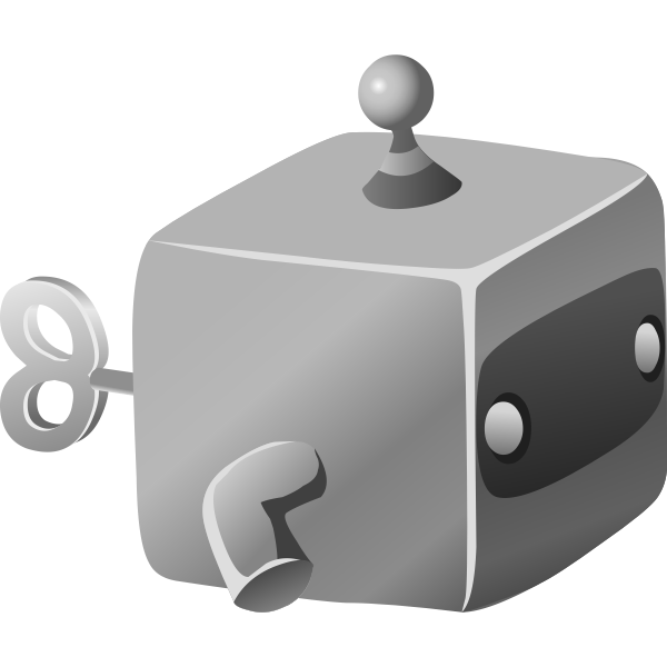 Gray cube toy