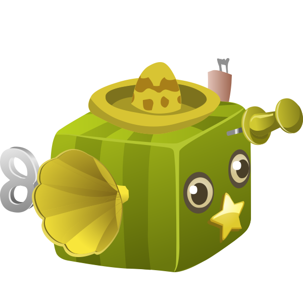Green cubic toy