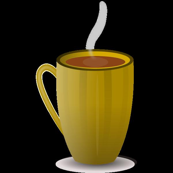 Brown coffee mug vector image