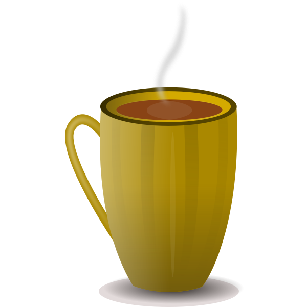 Brown coffee mug vector image