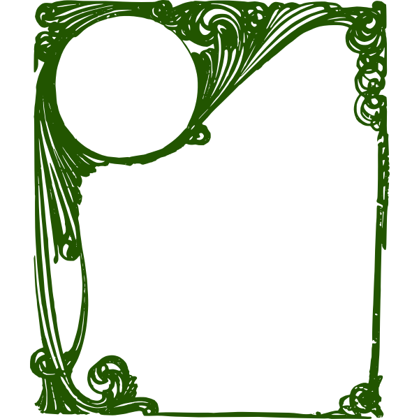 Curly green frame