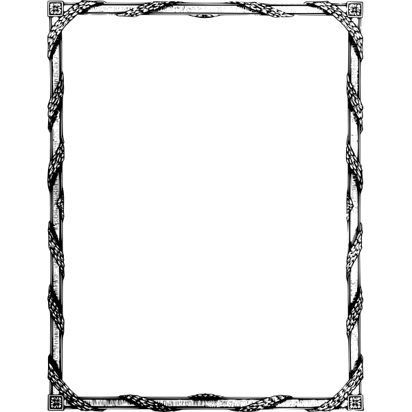 Curly leaf frame vector graphics