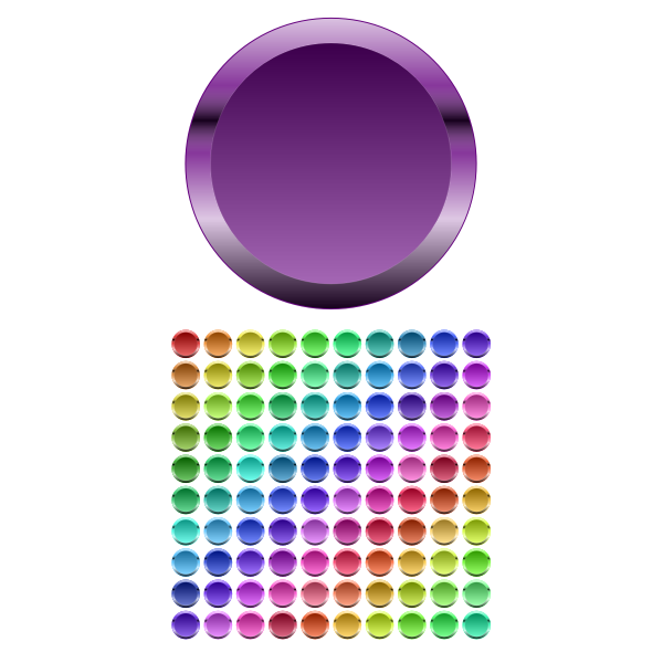 Colorful glossy buttons vector clip art