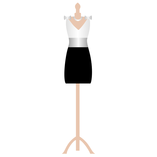Lady outfit on a stand vector graphics