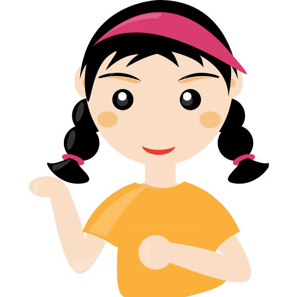 Vector image of a cute girl