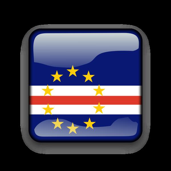 Cape Verde vector button