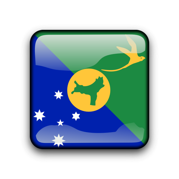Christmas Island vector button