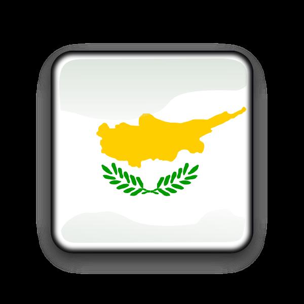 Cyprus vector flag button