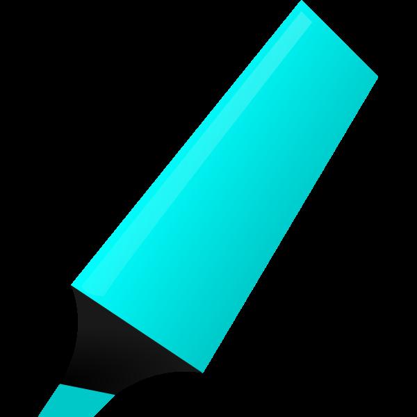 Vector illustration of cyan highlighter