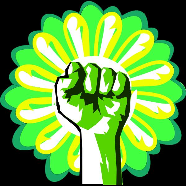 Green power vector illustration