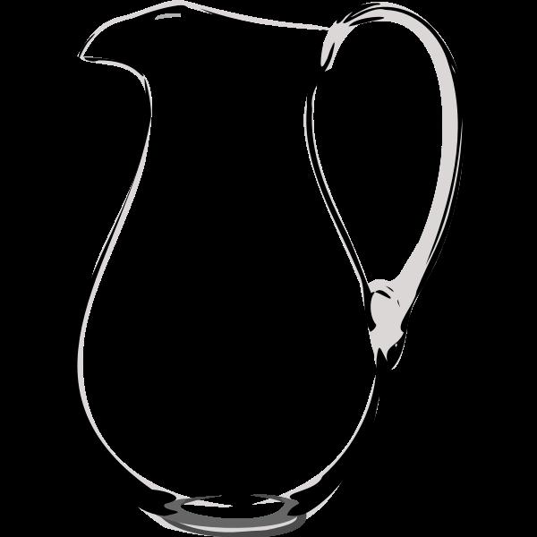 Wine carafe vector clip art