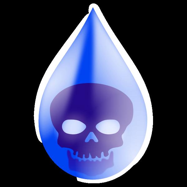 Water pollution drop vector image