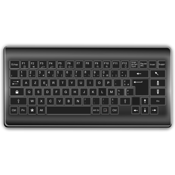 Vector graphics of AZERTY computer keyboard