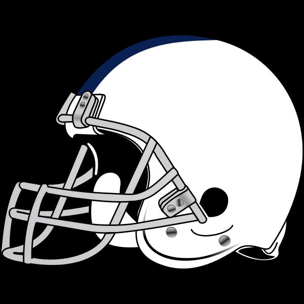 American football helmet vector drawing