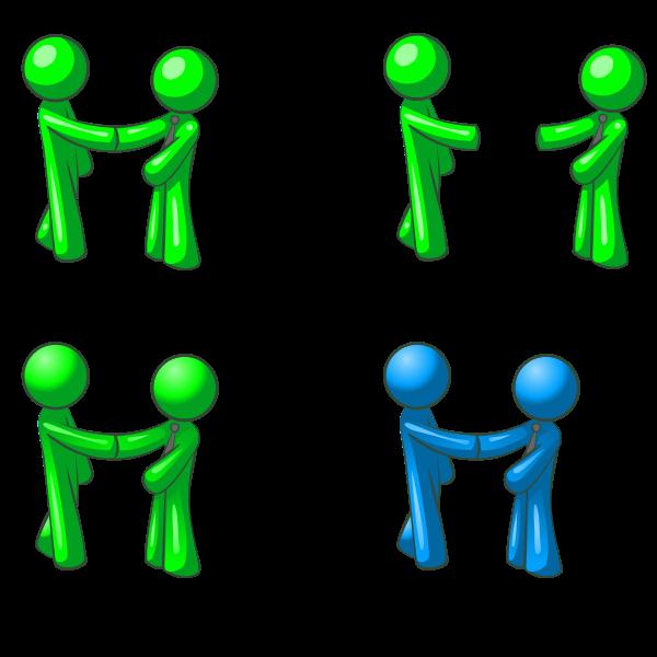 Human figures shaking hands