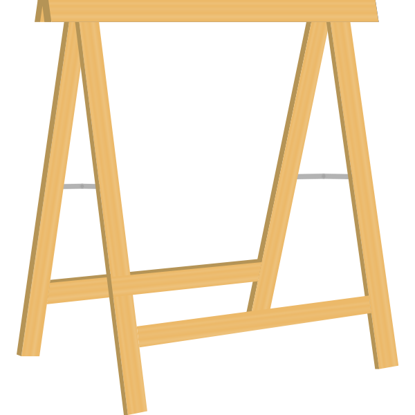 Vector illustration of sawhorse for woodwork