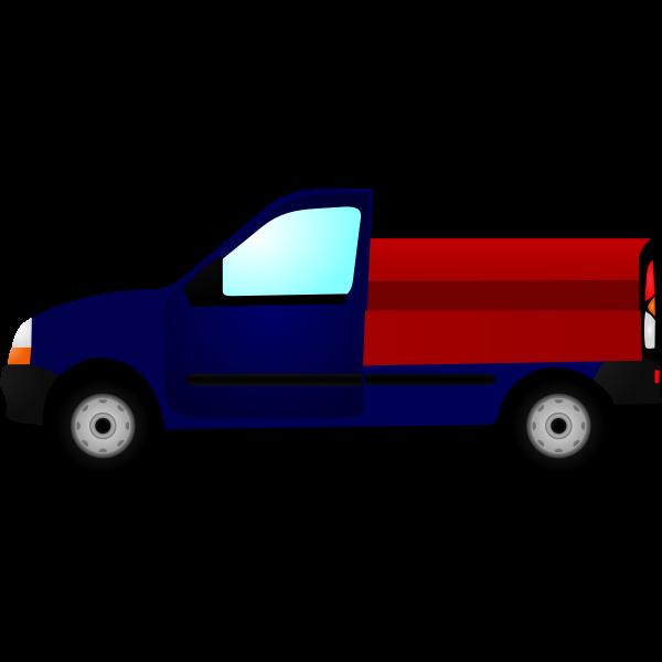 Small truck  vector illustration