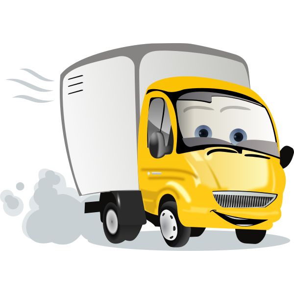 Cartoon truck vector illustration