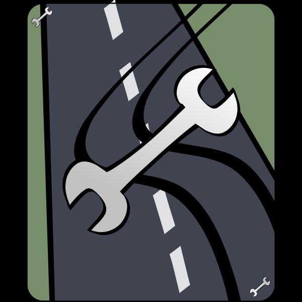 Road accident illustration