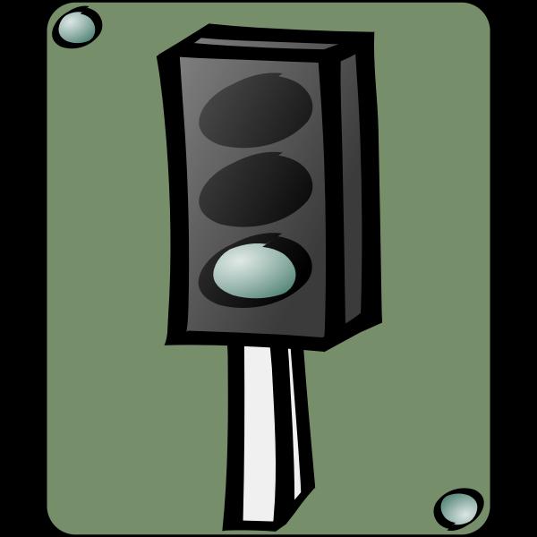 Traffic lights cartoon icon