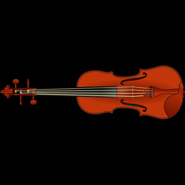 Vector clip art of violin
