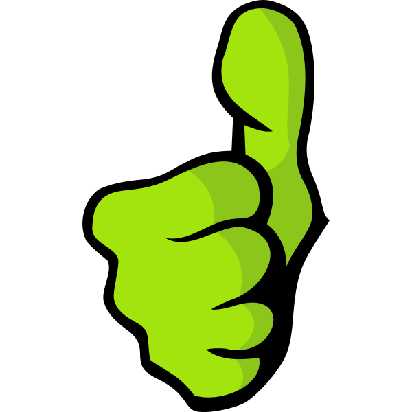 Vector image of green fist thumbs up