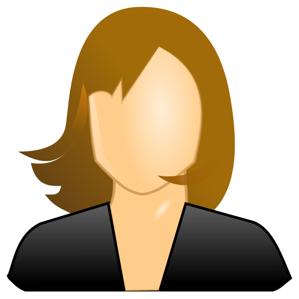 Vector image of female icon