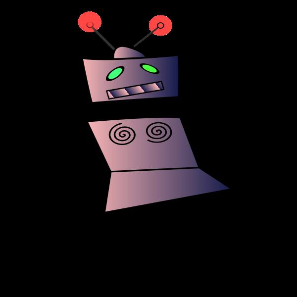 Dancing robot vector image