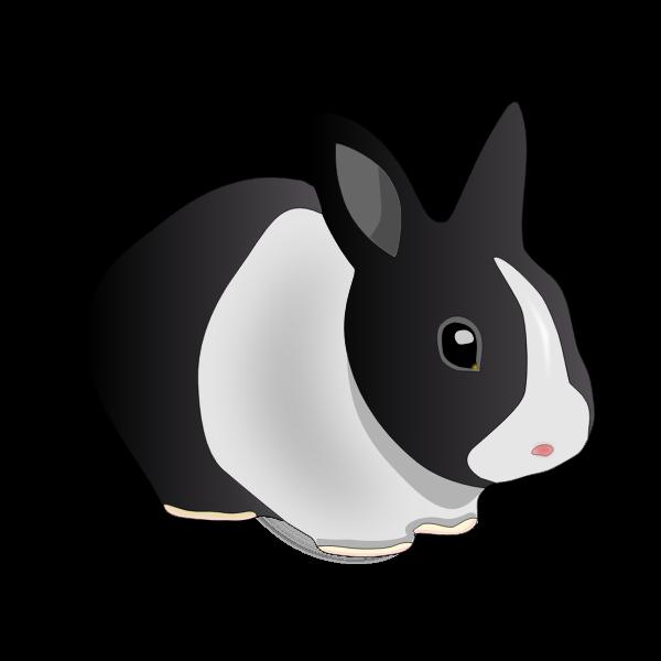 Vector image of friendly rabbit