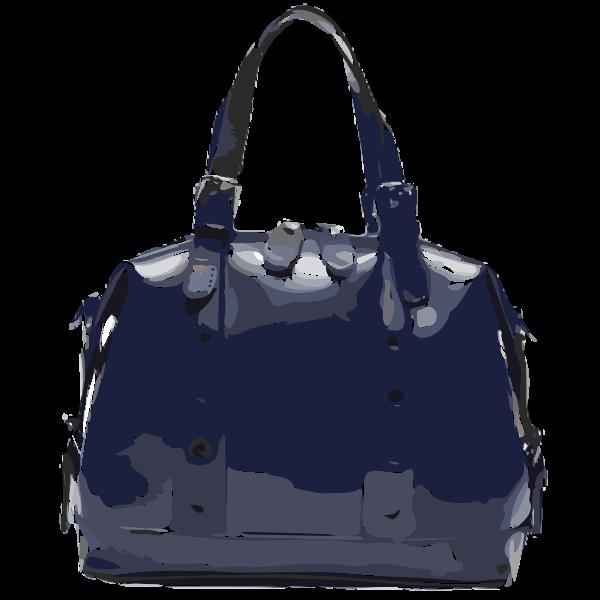 dark purple handbag