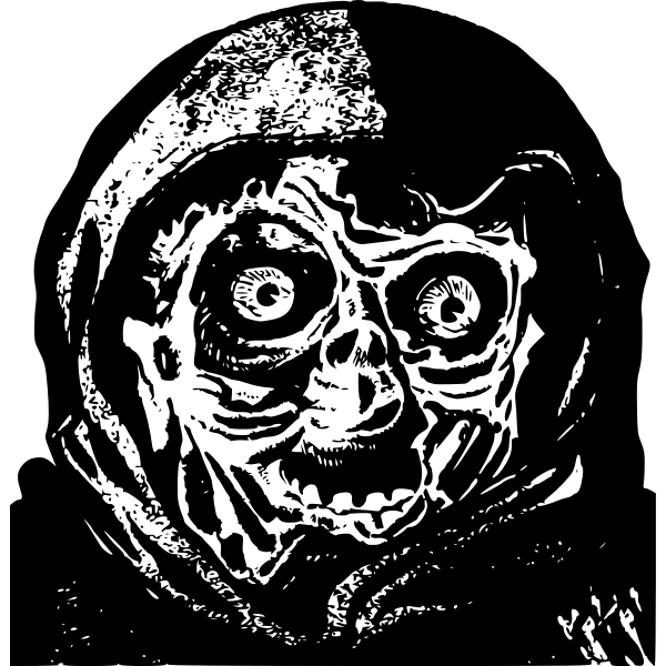 Vector graphics of dark beast's face