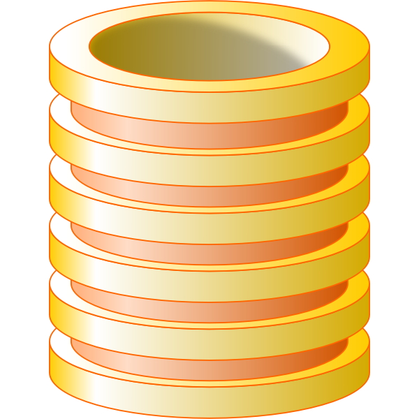 Yellow vector image of database