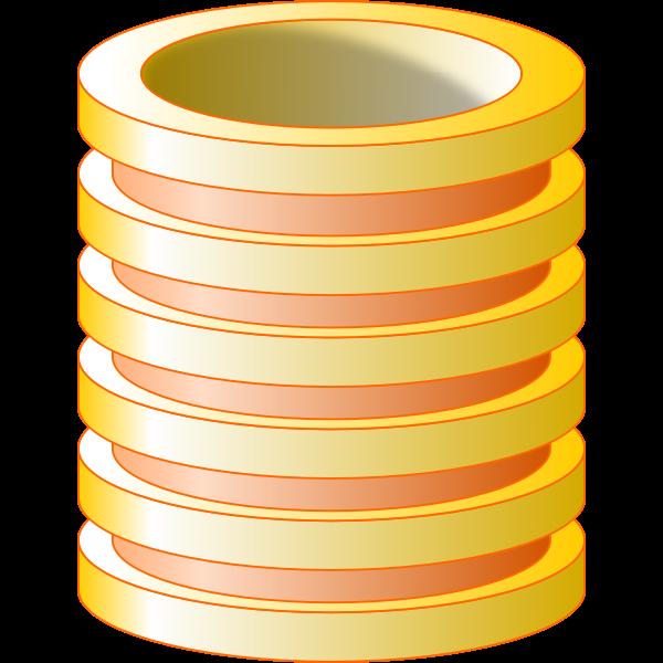 Yellow vector image of database