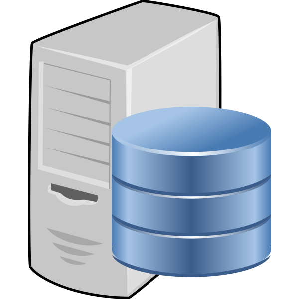 Vector drawing of database server