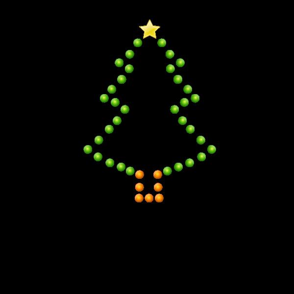 Christmas Tree in Lights Vector