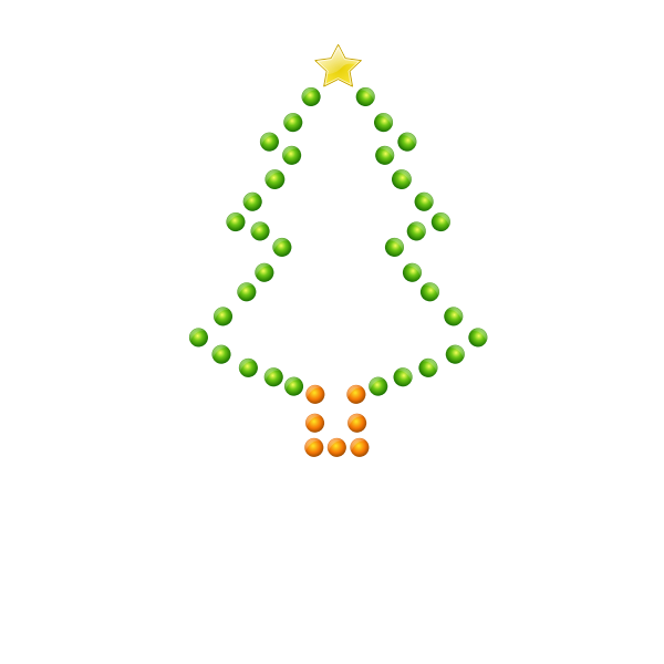 Christmas Tree in Lights Vector