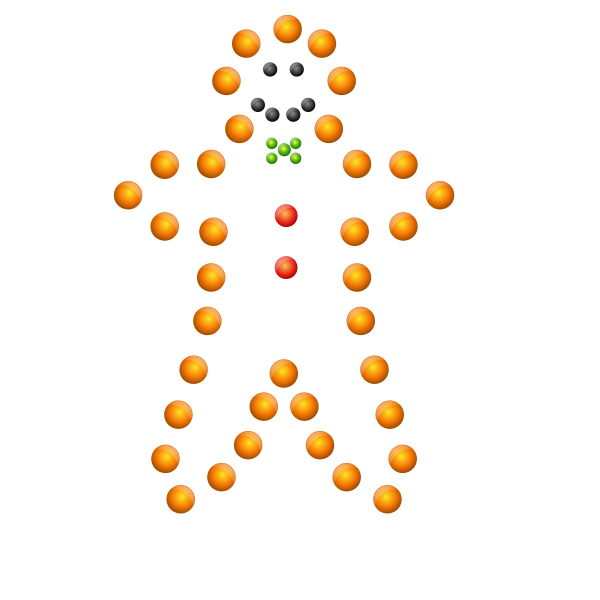 Gingerbread Man in Lights Vector
