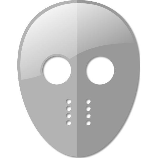 Fencing mask vector image