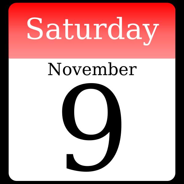 Day calendar vector drawing
